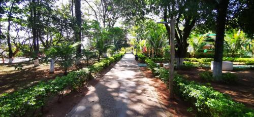 Um jardim em Brotas Eco Hotel Fazenda