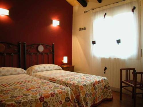 Cama o camas de una habitación en Apartamento Miralrio