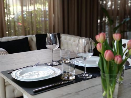 A restaurant or other place to eat at Hotel Franchi