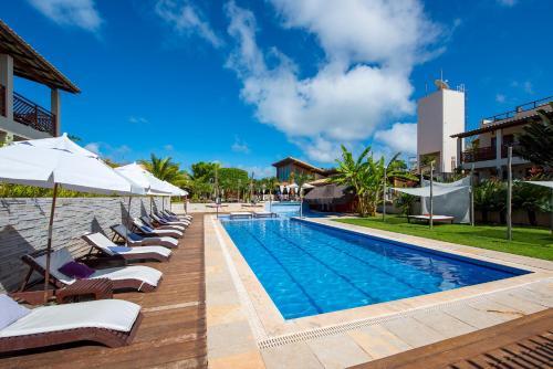 Het zwembad bij of vlak bij Pipa Beleza Spa Resort
