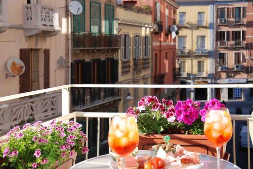 A balcony or terrace at Centro storico via Sassari Accommodation