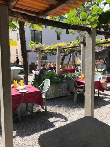 Ein Restaurant oder anderes Speiselokal in der Unterkunft Hotel San Giobbe