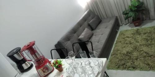 Bebidas em Apartamento confortável