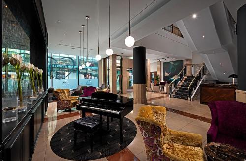 O saguão ou recepção de The Savoy Hotel