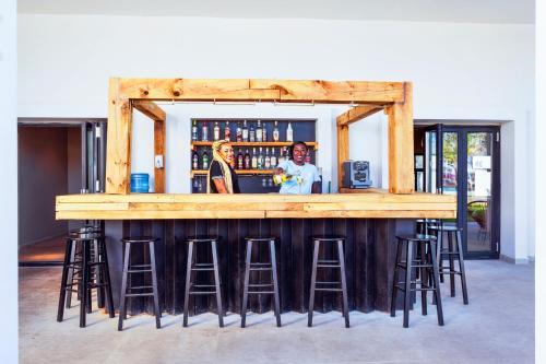 The lounge or bar area at Sunprime Tamala Beach
