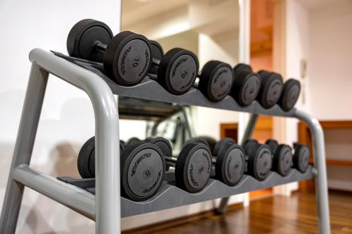 The fitness center and/or fitness facilities at Hotel International