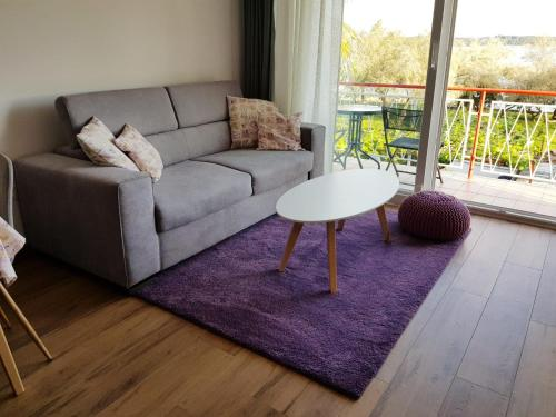 A seating area at Apartman Luka