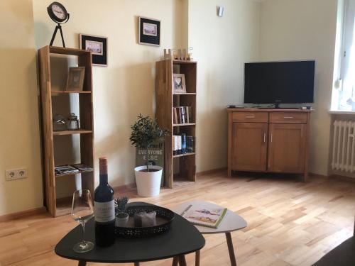 TV/Unterhaltungsangebot in der Unterkunft Ferienwohnungen Eberhard, Altes Winzerhaus