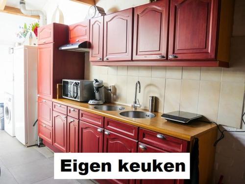 A kitchen or kitchenette at BenB Weeribben Wieden