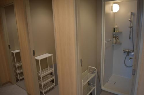 A bathroom at Tokyo Central Youth Hostel