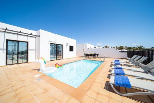Het zwembad bij of vlak bij Villas Salinas de Matagorda