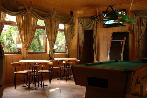 Stół bilardowy w obiekcie Camping Motel WOK
