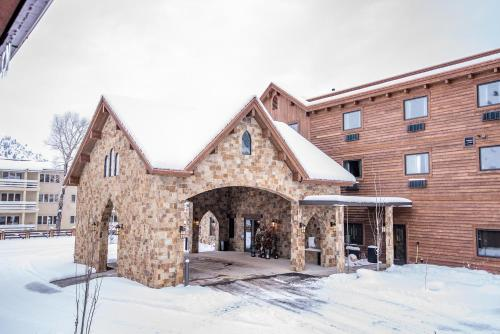 Elk Country Inn during the winter