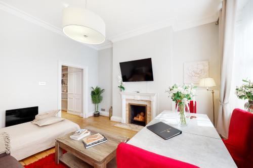 Coin salon dans l'établissement Park Lane Apartments - Clarges Street