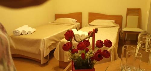 Letto o letti in una camera di Каприз