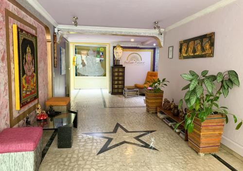 The lobby or reception area at Indian Palace