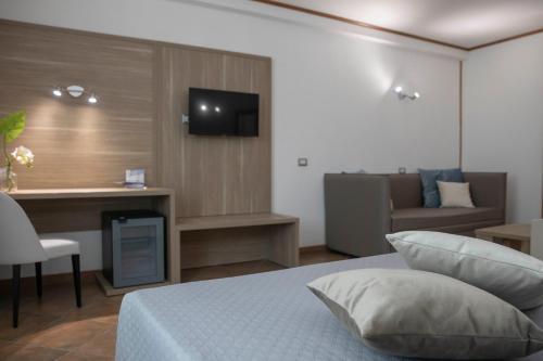 TV o dispositivi per l'intrattenimento presso Pegasus Hotel