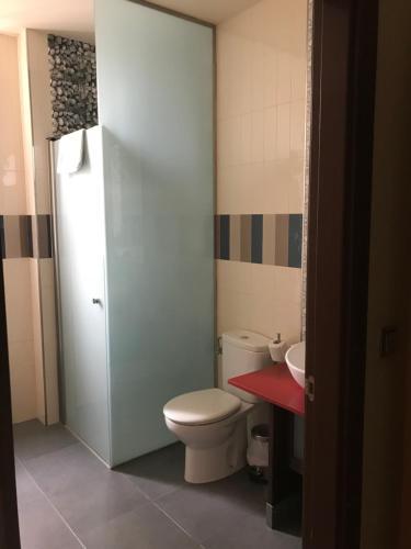 Un baño de Hostal de Cuenca