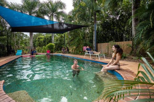 The swimming pool at or near Cairns Adventure Lodge - includes All Meals served in the Dining Hall