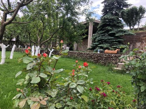 A garden outside Chez Yvette
