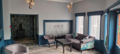 A seating area at Birch Hotel