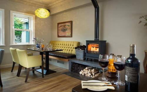 A seating area at The Wild Atlantic Lodge