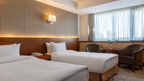 Cama o camas de una habitación en LOTTE Hotel Vladivostok