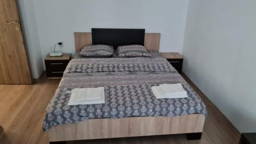 A bed or beds in a room at Apartament Deea Băile Herculane