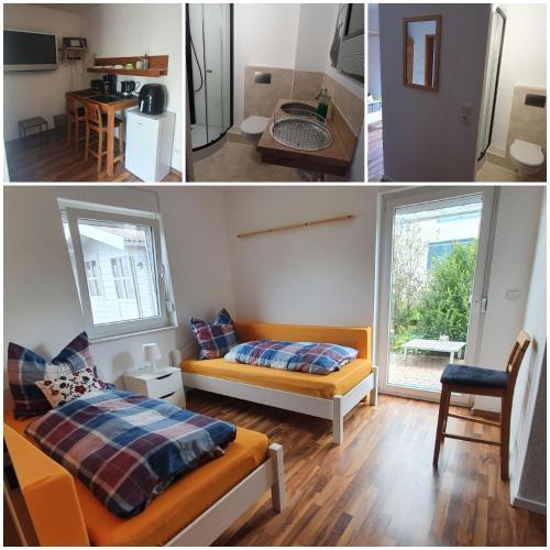Ein Bett oder Betten in einem Zimmer der Unterkunft Privatzimmer Krause