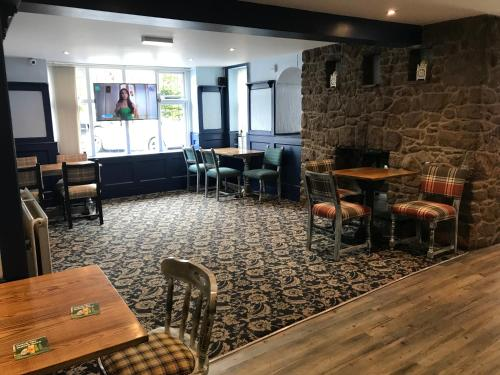 The lounge or bar area at Bull Hotel