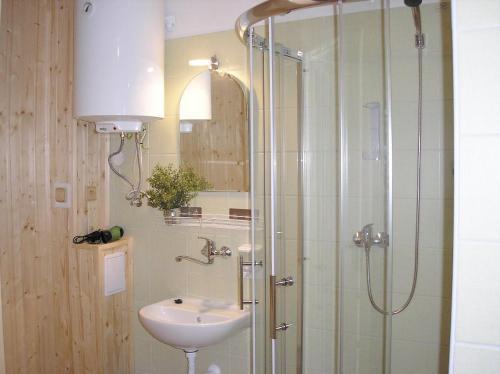 Ein Badezimmer in der Unterkunft Koliba Belveder