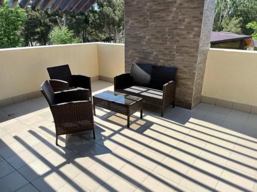 A balcony or terrace at Khutorok Resort