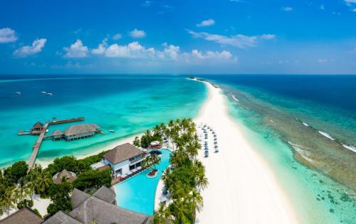 Blick auf Finolhu Baa Atoll Maldives aus der Vogelperspektive