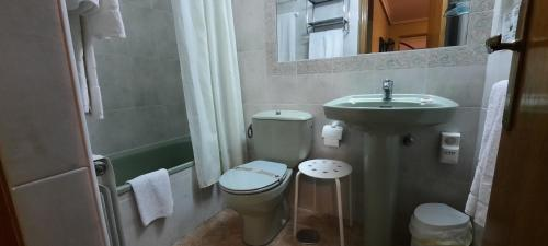 A bathroom at La Casona