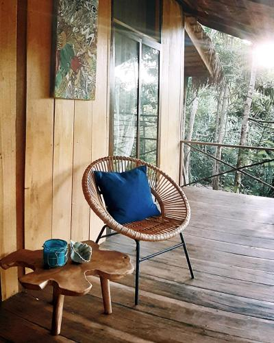 A seating area at Togo Eang Ecolodge