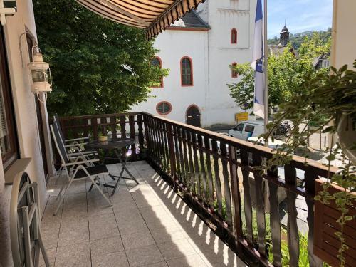 Ein Balkon oder eine Terrasse in der Unterkunft Haus Grewe in Kaub