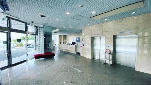 The lobby or reception area at Reiah Hotel Kusatsu