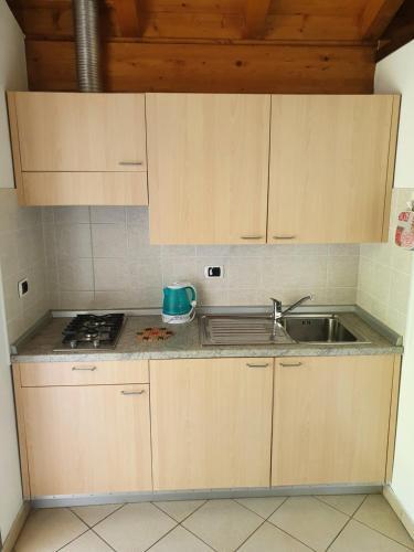 Een keuken of kitchenette bij Bungalows in Camping Solarium