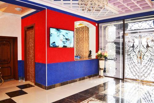 The lobby or reception area at Shohkand Hotel