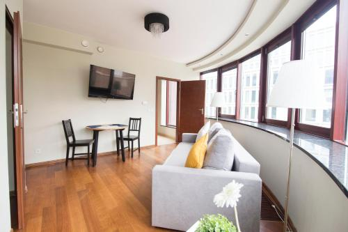 A seating area at LUCKY APARTMENTS - Old Town