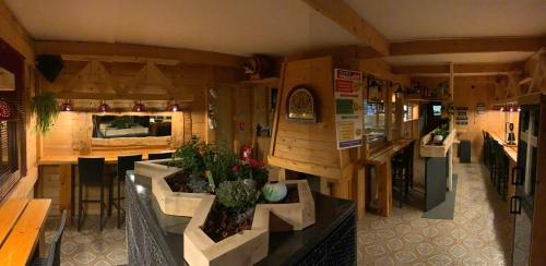 A restaurant or other place to eat at Relais Mont Jura Adults Only