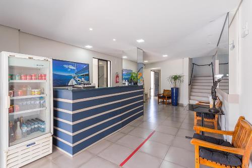 The lobby or reception area at Hotel Marjaí