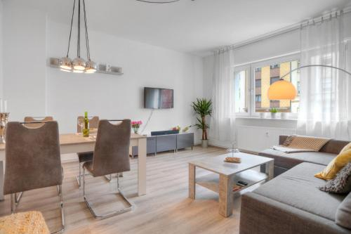 "A seating area at Apartment ""Am Sternbuschweg"""