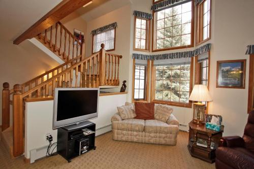 A television and/or entertainment centre at Cascade Park Townhome