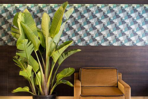 Ein Sitzbereich in der Unterkunft Hotel American-Dinesen