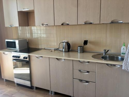 Кухня или мини-кухня в Апартаменты у метро Красный проспект