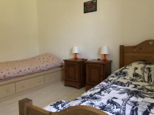 Un ou plusieurs lits dans un hébergement de l'établissement Chambres individuelles avec partie commune ou logement entier si disponible Via Rhôna