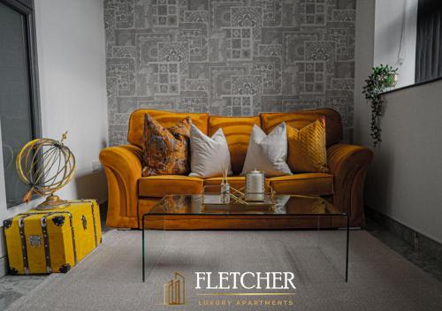 A seating area at Fletcher Apartments