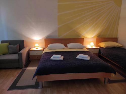 Krevet ili kreveti u jedinici u objektu Apartment Stipčić-Mrežnički Brig