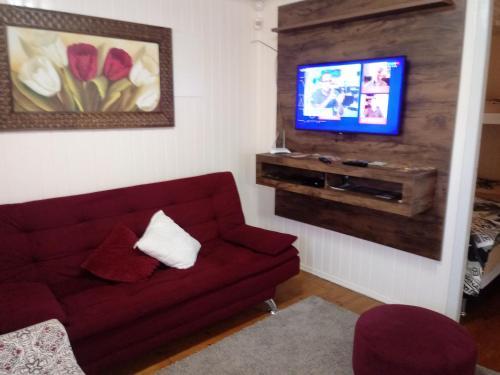 Uma área de estar em Casa Rosada